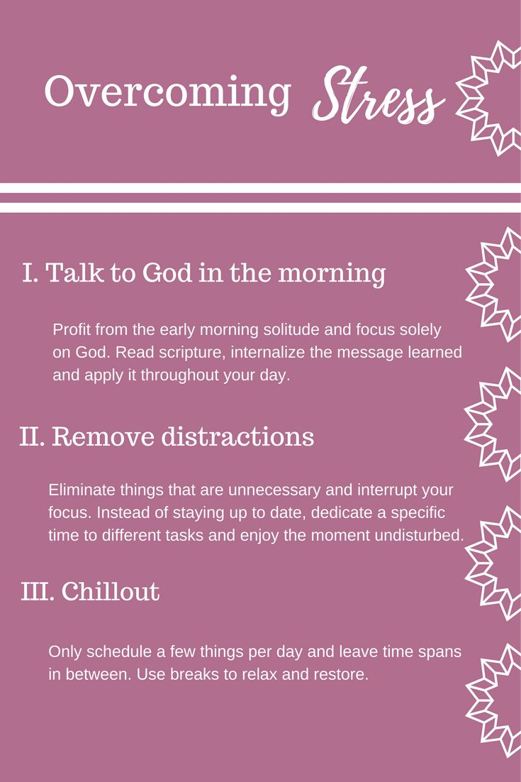 How to overcome stress - Learn how to deal with uncertainty, how to overcome anxiety and feeling overwhelmed. Spend time with God in the morning | Remove distractions | Relax and chill out  #God #Faith #Christ #Stress #Anxiety