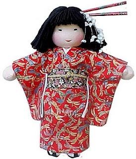 Lovely Japanese Waldorf doll.