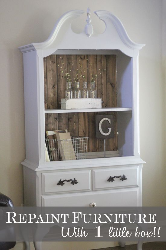 Repaint Furniture with 1 Little Box!!! like this hutch idea