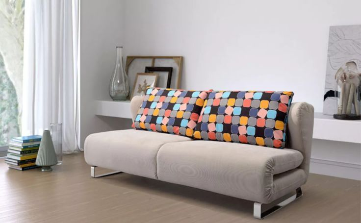 The perfect sofa-cum-bed for your apartment when that friend stays over!  http://www.manhattanhomedesign.com/conic-sleeper-sofa.html #sofabed #sleepersofa #interiordesign #midcentury #homedecor
