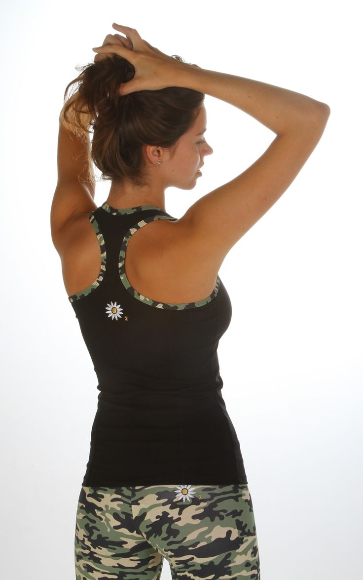 Margarita Green Camo Trim Racer Back | Daisy Fitness Wear