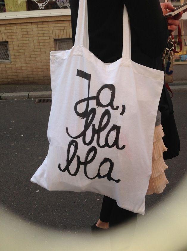 "Jutebeutel ""Ja Blabla"" // tote bag by HerrPfeffer via dawanda.com"