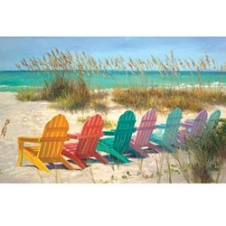Colored Beach Chairs - Print Gallery Palette