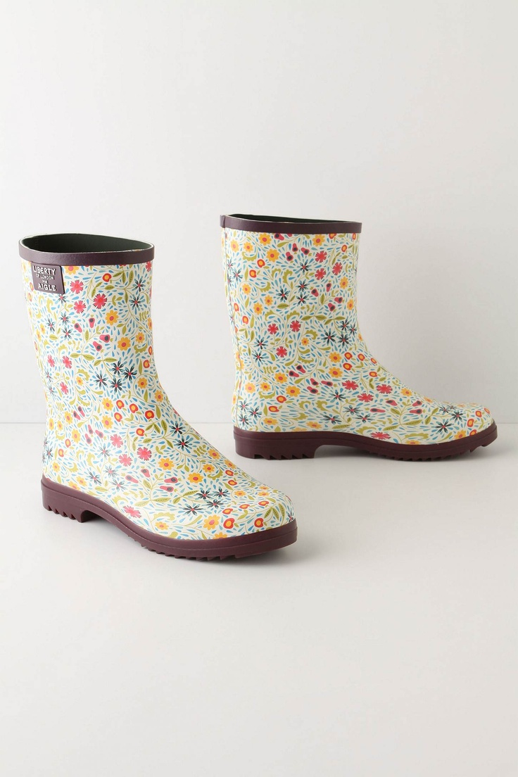 Flower-Drenched Galoshes