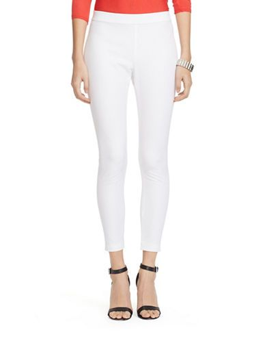 LAUREN RALPH LAUREN Petite Bi-Stretch Twill Leggings