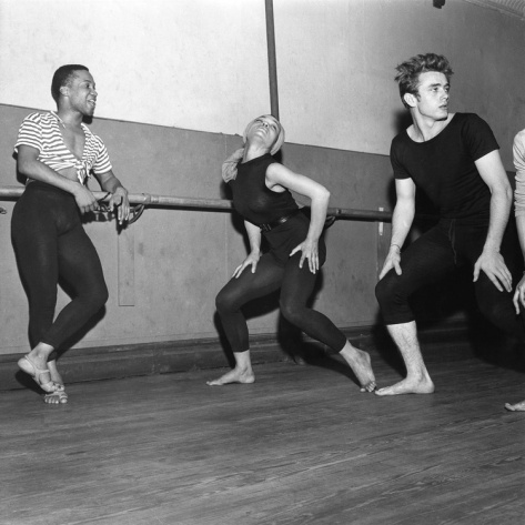 (James Dean, Eartha Kitt, & Someone Clearly Fabulous @ Katherine Dunham Dance Class, NYC, photo by G. Marshall Wilson)   >> I'm obsessed with Kitt & Dean's friendship.