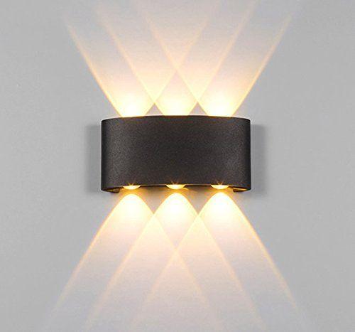 Fancy Etime W LED Wandleuchte Wasserdicht Innen Au en Wandlampe up u down IP LED Wandbeleuchtung Schwarz