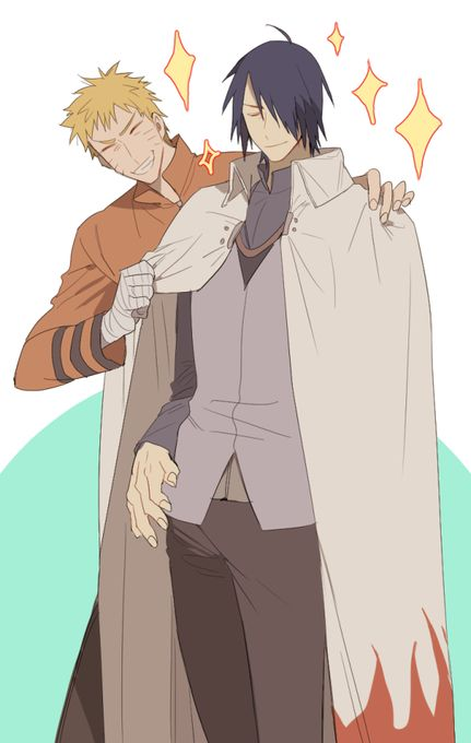 Awwww. This is the real #friendshipgoals things <3. Naruto and Sasuke