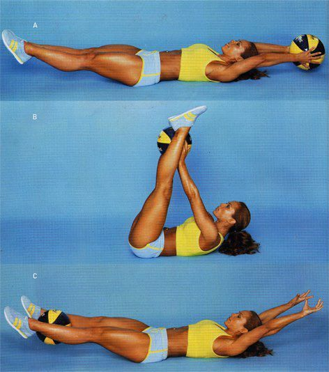 I saw this exercise and I have reached a weight plateau so I'm trying this ab workout to diversify my routine. I'm using a pilates ball though.
