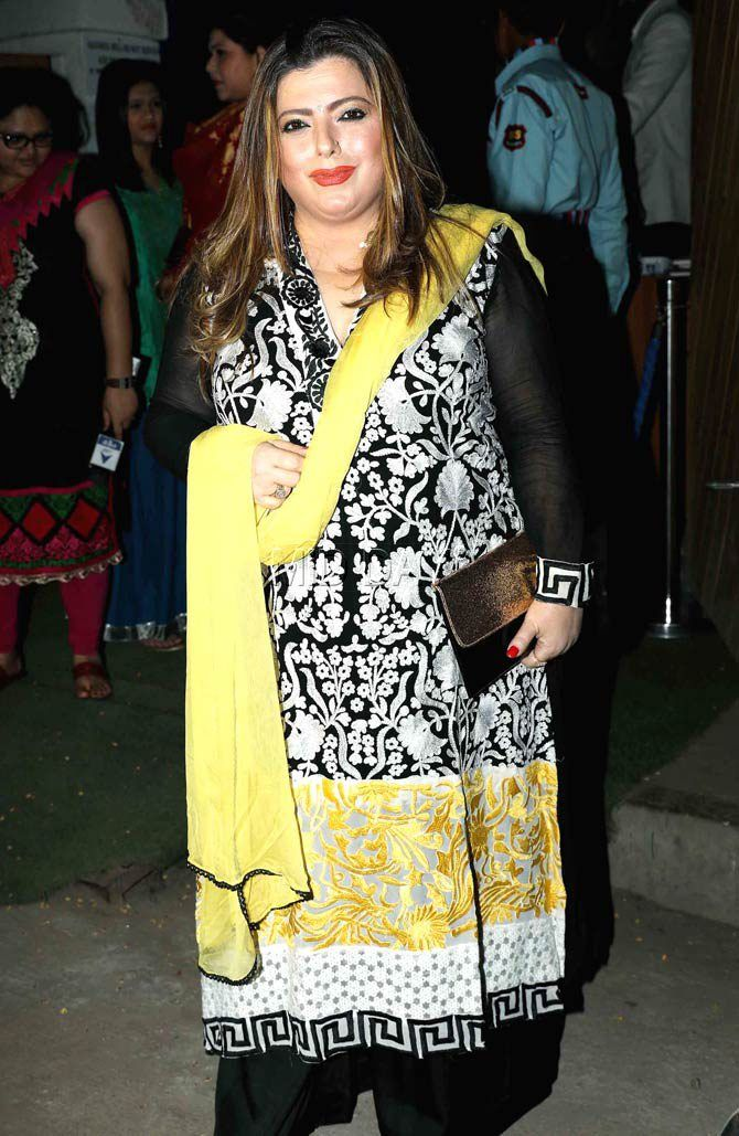 Delnaaz Irani at Kishwer Merchant-Suyyash Rai's mehendi, sangeet ceremony. #Bollywood #Fashion #Style #Beauty #Hot #Ethnic #Curvy
