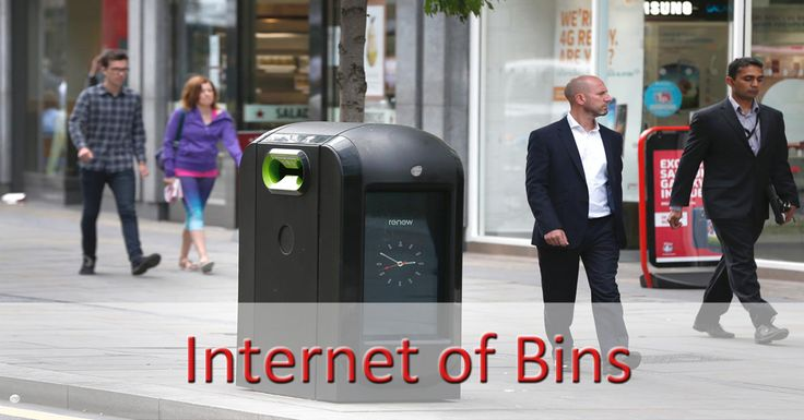Why the city of London did ended its test program connected trash cans?  1) They followed passers smartphones 2) They emit too much interference 3) They consume too much electricity  #internetofthings #smartcity