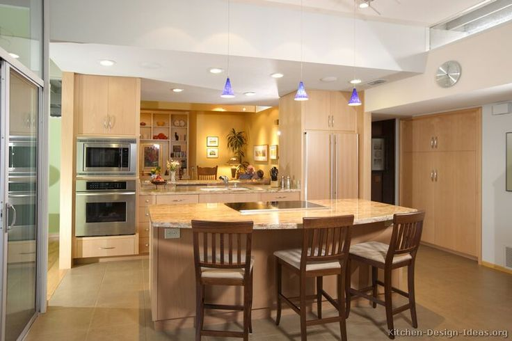 A Luxury Kitchen With Lots Of Natural Light An Open Plan Design And Light Wood Kitchen