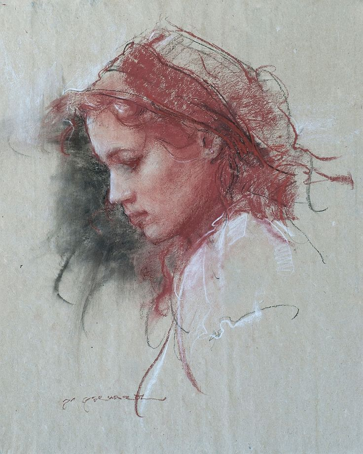 Daniel Gerhartz - Her Mother's Eyes | Pastel, Graphite and Charcoal Sketches