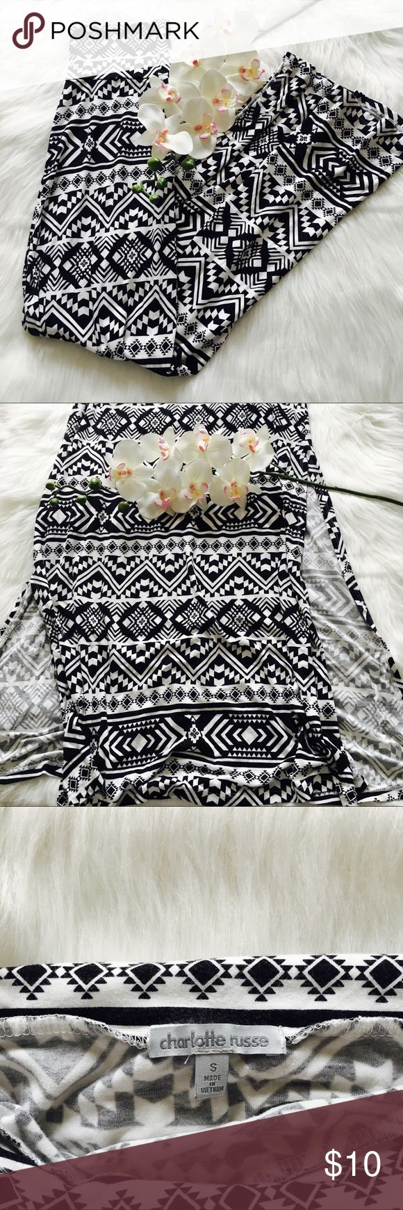 Aztec print maxi skirt Cute maxi skirt with slits up both sides. Only worn once, in perfect conditions. Charlotte Russe Skirts Maxi