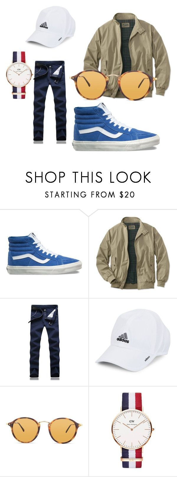 """""""Untitled #16"""" by tommy-el-yhan-pelle on Polyvore featuring Vans, adidas, Ray-Ban, Daniel Wellington, men's fashion and menswear"""