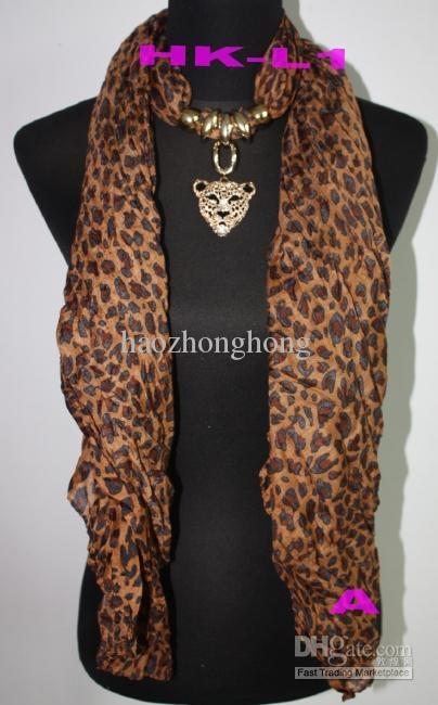 Comprar bufanda collares joyas baratas leopardo cabeza colgante bufandas leopardo bufanda GRATIS joyas de diamantes ccsme DHL con $ 5.92-8.21/Piece   DHgate