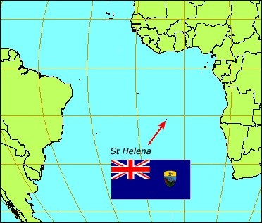 St. Helena is an island off the west coast of Africa and is known for strong winds and not a very dense population.