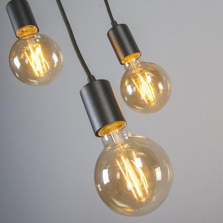 Lámpara colgante FACIL 3 negra #iluminacion #minimalismo #decorados