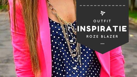 outfit inspiratie roze blazer budgetlover