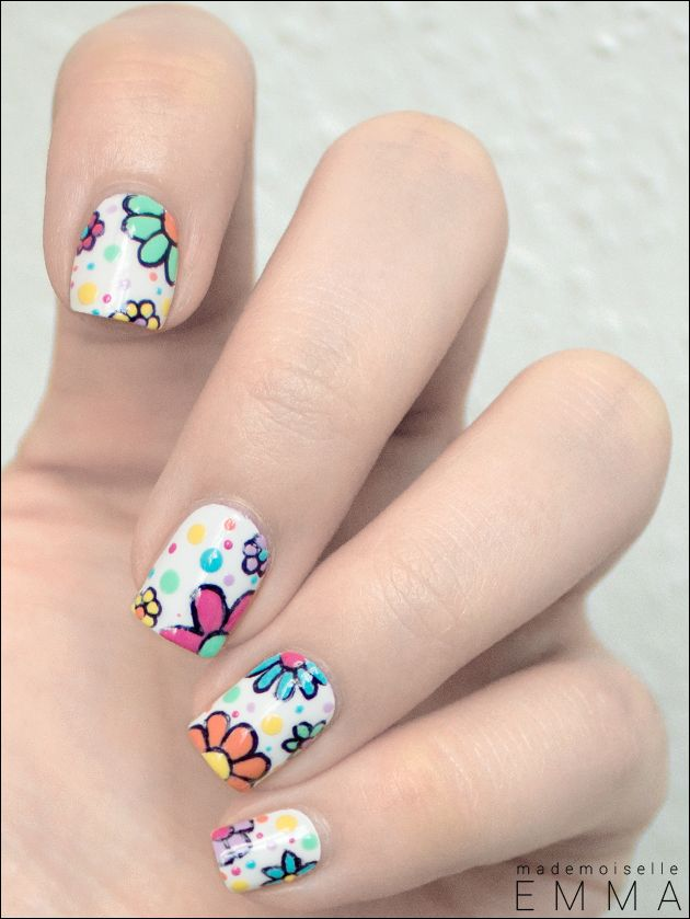 Le blog de Mademoiselle Emma: Nailstorming #41 Flower Power