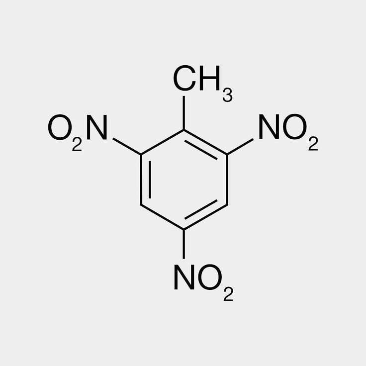 #Trinitrotoluene or more specifically 246-trinitrotoluene is a chemical compound with the formula C6H23CH3. This yellow-colored solid is sometimes used as a reagent in chemical synthesis but it is best known as a useful explosive material with convenient handling properties. The explosive yield of TNT is considered to be the standard measure of bombs and other explosives. In chemistry TNT is used to generate charge transfer salts.  #chemistry #moleculeoftheday #tnt #explosive #chemist…