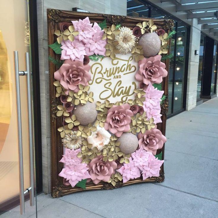 paper flower wall rental