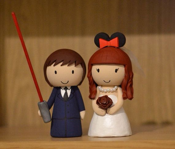 Disney Star Wars & Minnie Mouse ears Wedding Cake Topper