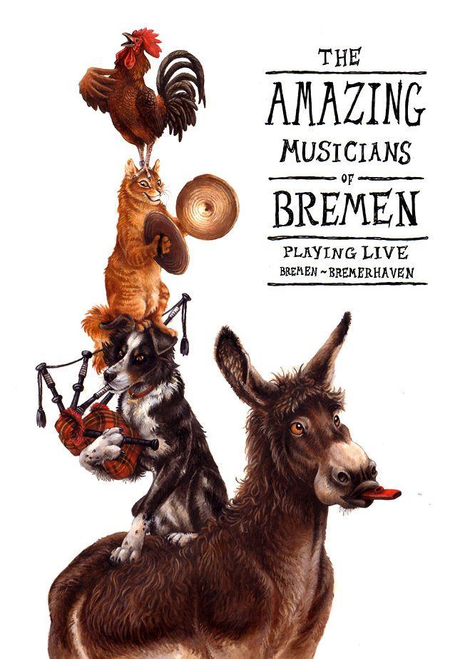 The Musicians of Bremen ~ art by kenket (Tess Garman) deviantArt