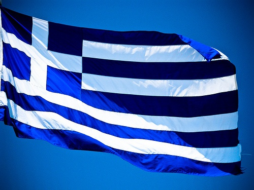Greek flag I went to this country :) :) :-) :-)