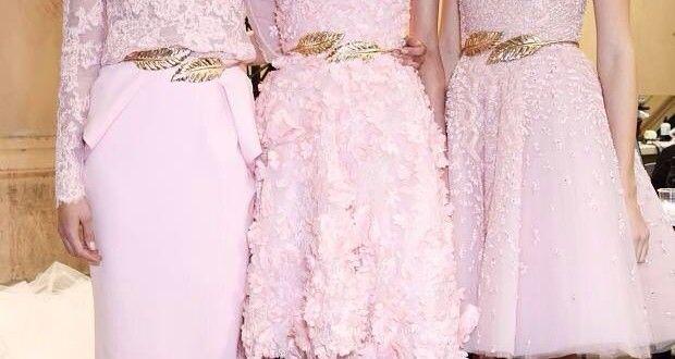 Yalık Açık Pembe Elbiseler Kıyafetler 2014 | ekadınca