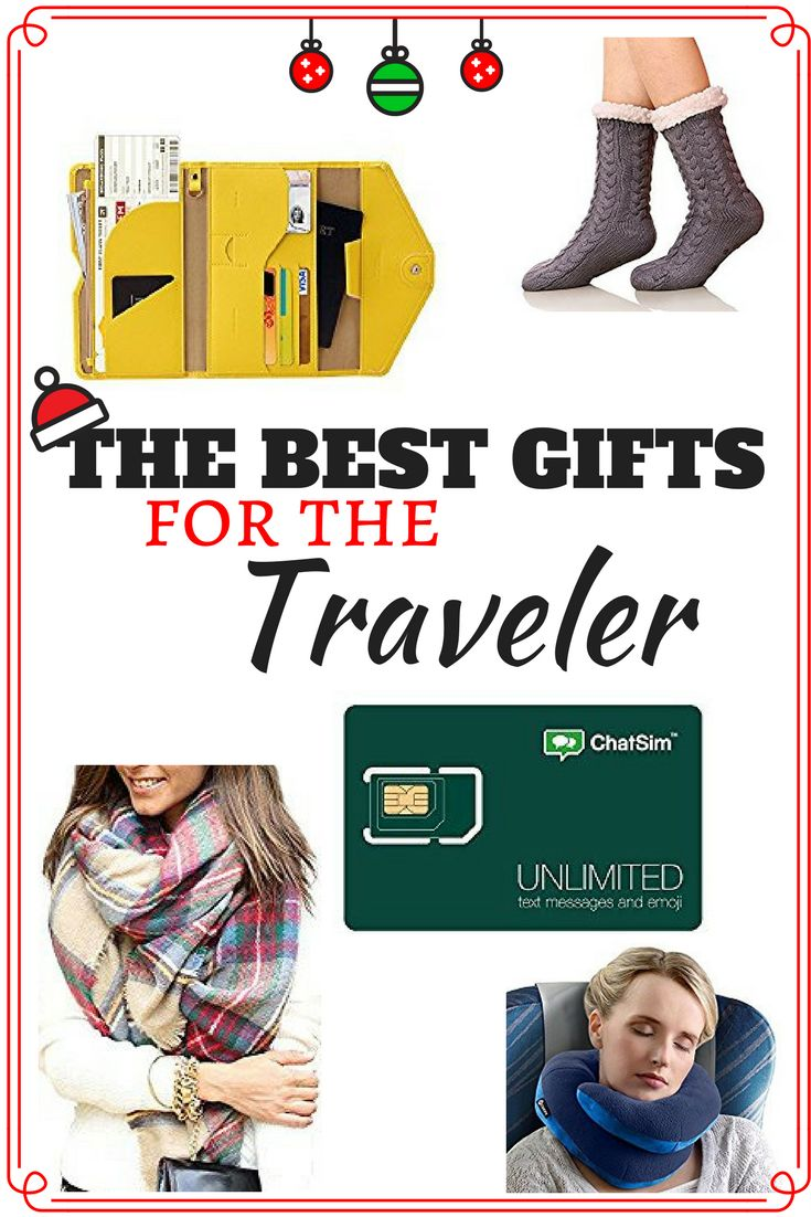 This is the absolute best collection of traveler gift ideas for women and for men with wanderlust. These travelers gifts for the roads less traveled are absolutely creative and necessary items for a perfect gift basket present. This unique list holds useful Christmas gifts for friends, for her, for him, and even for kids on international adventures. #travelergifts #travel #traveler
