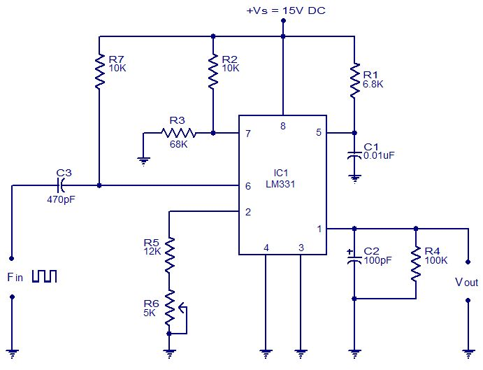 32369ed4e21aa8eef7766b121193e667 electrical projects electronics projects electronic circuit for frequency to voltage converter convertor ic schematic diagram at couponss.co