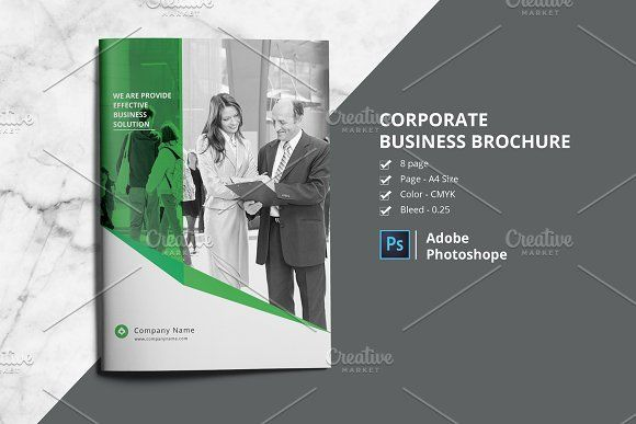 Business Brochure V801 by Template Shop on @creativemarket