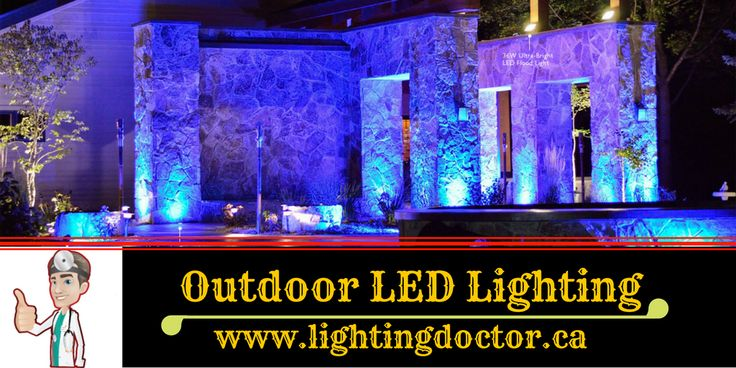 Installing outdoor LED lights would be a great choice if you are looking to enhance the appearance of your outdoors. #OutdoorLEDLighting #LightingDoctor #Calgary #LandscapeLighting #Alberta #Canada www.lightingdoctor.ca