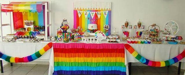 cumpleaos colorido buscar con google cumpleaos colorido pinterest cumpleaos colorido mesas dulces y fiestas infantiles