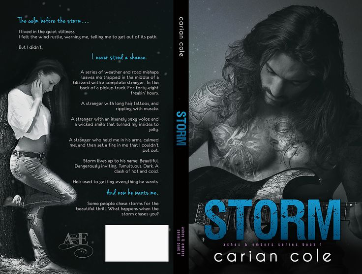 Storm full print cover (book 1, by Carian Cole, available on all platforms!) Model is Matt Maguire, photo by Michael Meadows.