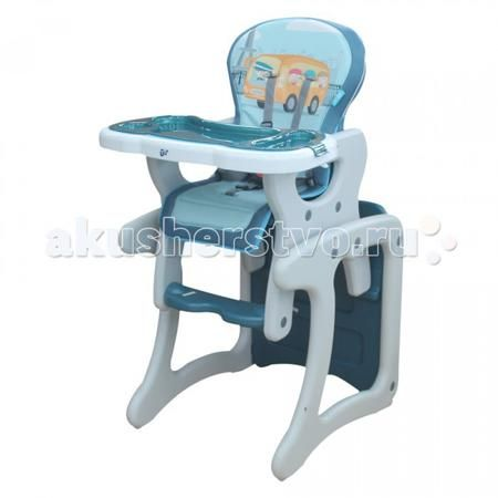 BamBola Carlo  — 5900р. ----------------------------------------  Стульчик для кормления BamBola Carlo  Стул-трансформер Bambola - стульчик для кормления, который используется для малышей с 6 месяцев и до 3 лет. Удобная спинка имеет несколько положений, а пятиточечные ремни безопасности защитят ребенка. Стульчик легко можно превратить в игровой стол и стул или высокий стул для кормления.  Особенности: Регулируемый угол наклона спинки стульчика (три положения) Регулируемый поднос-столешница…