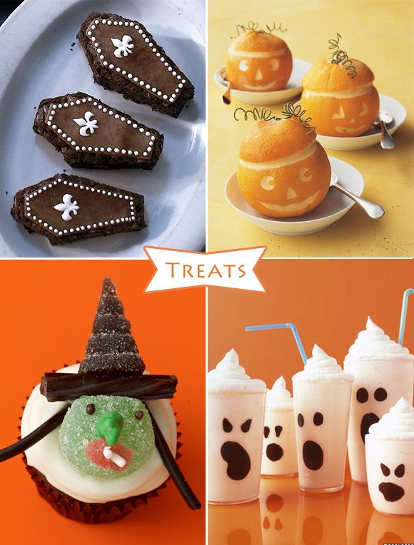 martha stewart halloween recipes lanterns with sorbet witch cupcakes boo - Martha Stewart Halloween Cakes
