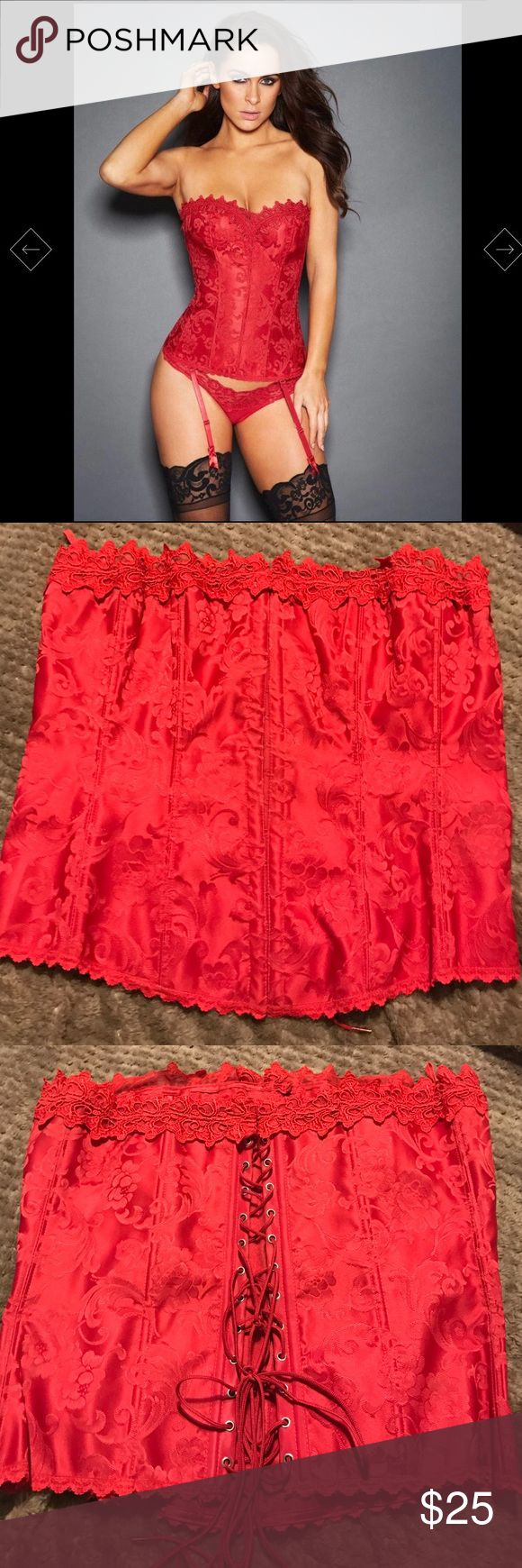 Classic red corset Must have classic red corset from Fredericks of Hollywood. Lace up corset to give off the perfect hour class shape  Frederick's of Hollywood Intimates & Sleepwear