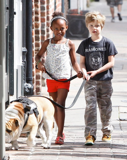 jolie-pitt kids....zahara and shiloh