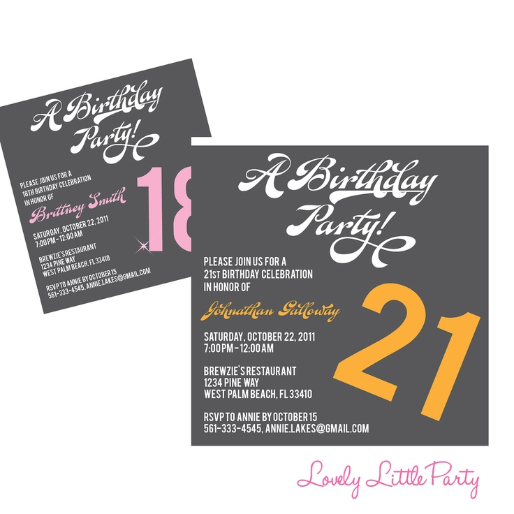71 best Birthday ideas images on Pinterest Book jacket, Cards - free 18th birthday invitation templates