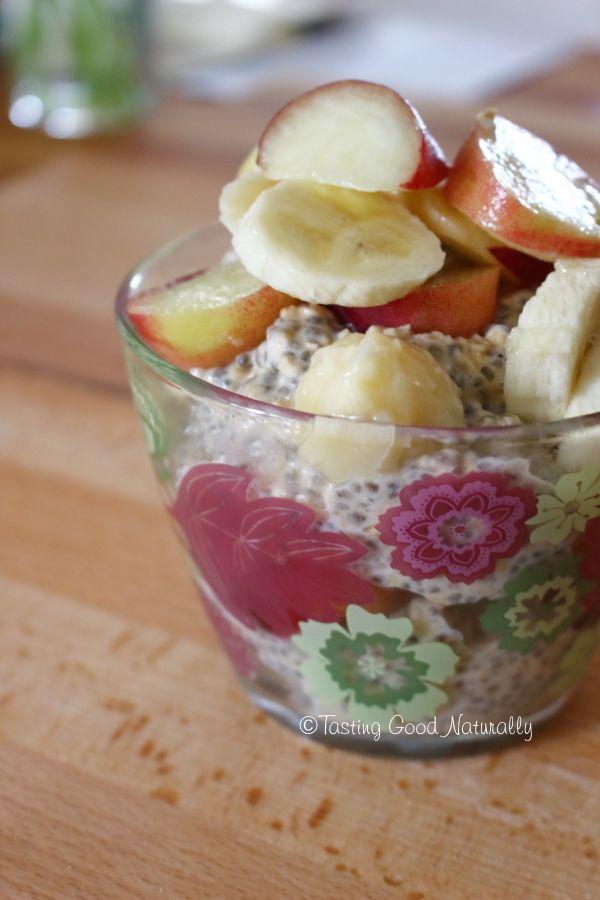 Tasting Good Naturally : Porridge aux flocons d'avoine, graines chia et fruits frais #vegan
