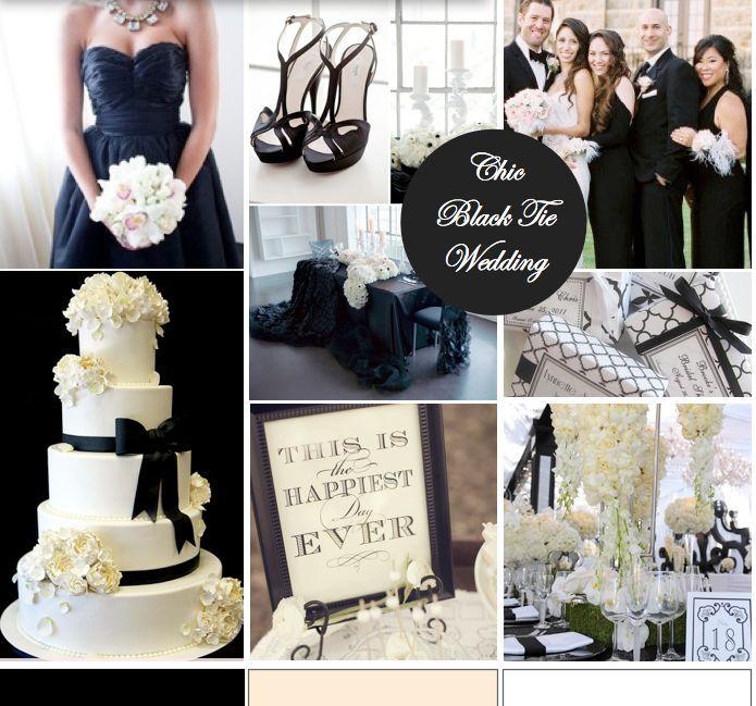 Black Tie Manhattan Wedding: Black Tie Affair - Formal And Chic Wedding