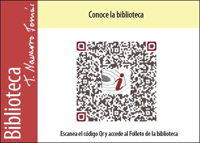 Código QR de acceso al folleto de la Biblioteca Tomás Navarro Tomás.