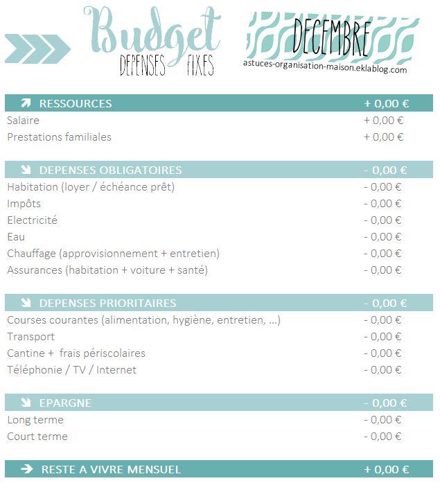 ✿ Simplifier ses finances avec le budget familial express ! Plus