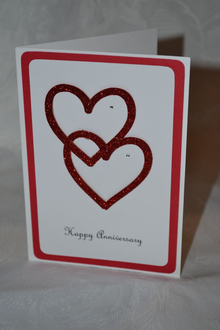 Handmade Anniversary Card Heart cards Pinterest