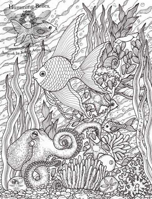 ocean theme coloring pages - photo#14