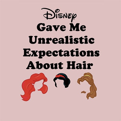 Boy, ain't that the truth! I'm still trying to get my anti-gravity Ariel bangs to work!! lol: Giggle, Disney Hair, Truth, Princess Hair, Disney Princess, So True, Unrealistic Expectations