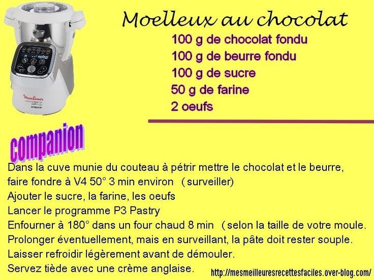 Moelleux au chocolat au companion