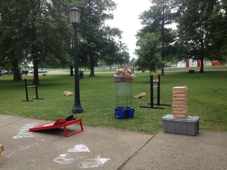 Bean Bag Kerplunk Hillbilly Golf And YardGiant Jenga Homemade Games For Parties Worked Great My Outdoor Grad Party
